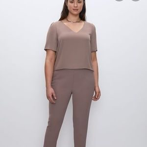 Babaton from Aritzia Randy Blouse in Lilac Grey M